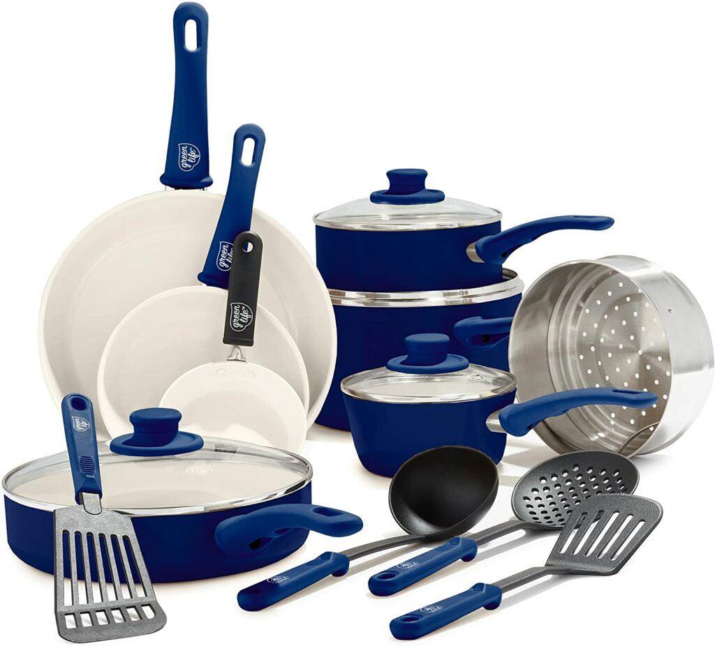 Best Lightweight Cookware For Adaptive Living - GreenLife Soft Grip Healthy Ceramic Nonstick