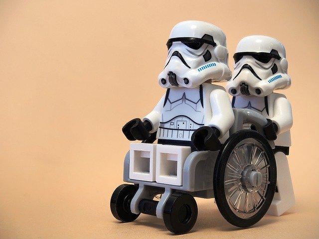 How To Clean A Wheelchair Cushion - Lego Stormtrooper in a Wheelchair