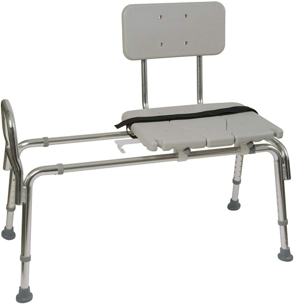 the 7 best shower and bath safety aids  (Guides and reviews 2021)-Moen Home Care Non-Slip Bath Safety Transfer Bench,