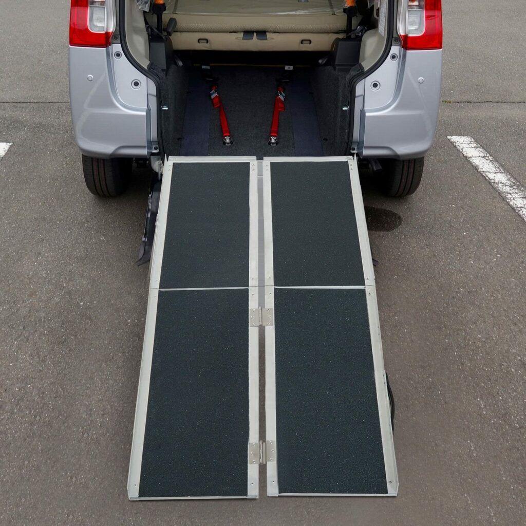Best Portable Wheelchair Ramps -HOMCOM Aluminum Portable Ramp