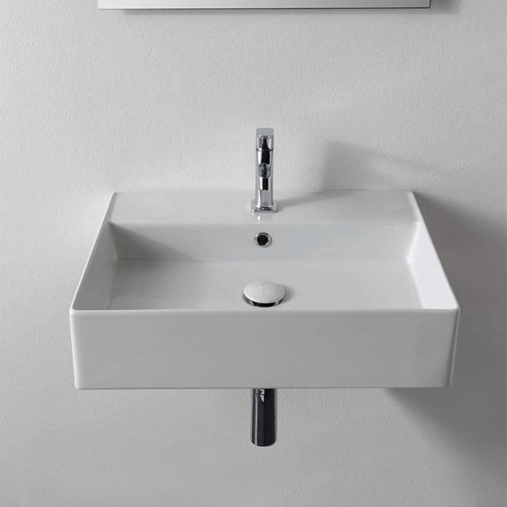 the 5 Best bathroom sinks for wheelchairs-Scarabeo One Hole Bathroom Sink White