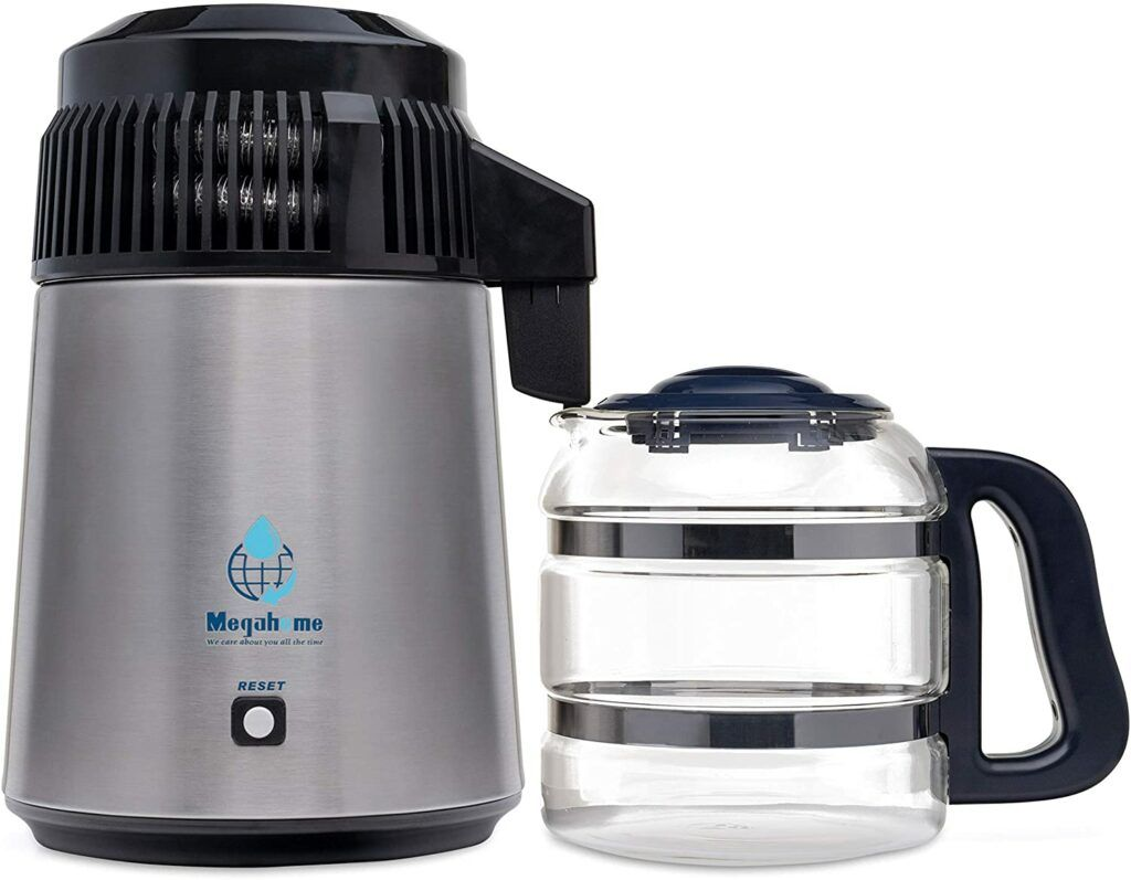 The 5 Best Countertop Water Filter Systems:Megahome Countertop Water Distiller Stainless, Glass Collection